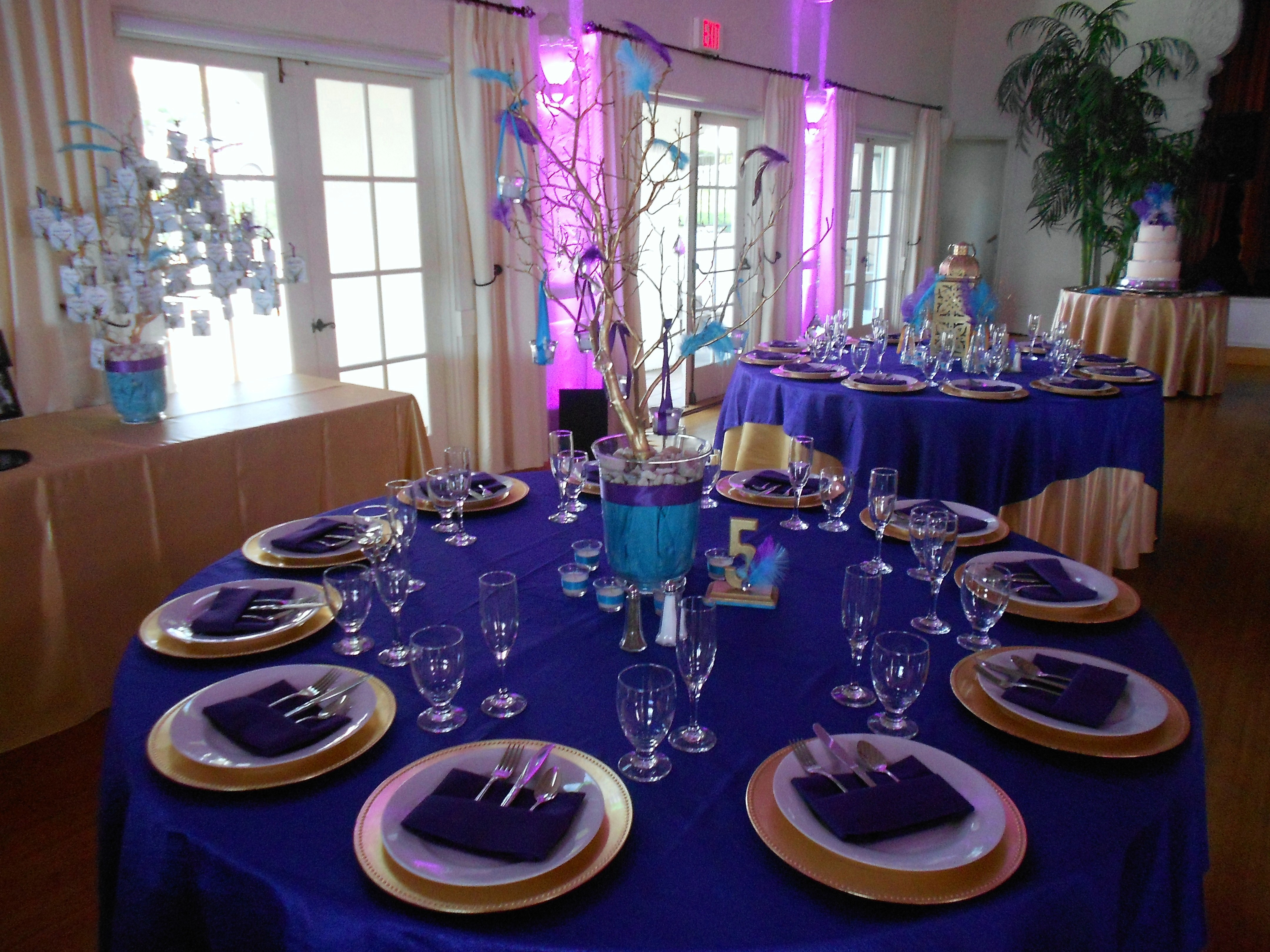 Beautiful Purple And Turquoise Wedding Centerpieces Gallery Styles