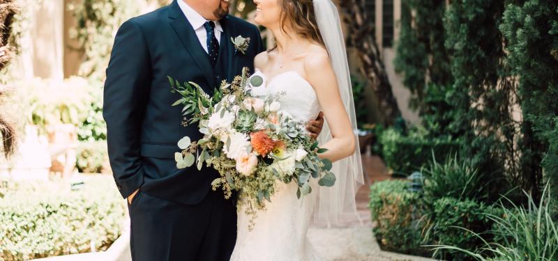 Jonathan & Sarah at Rancho Bernardo Courtyrad