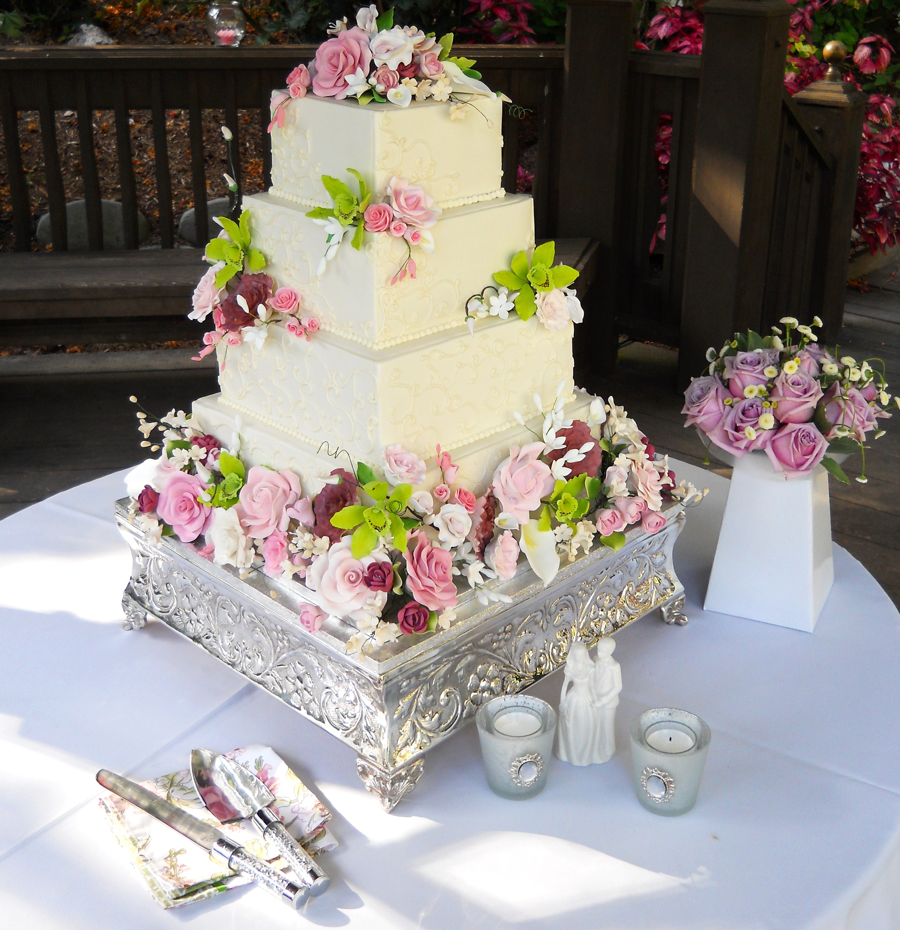 cute wedding cake quail botanical gardens archives catering in san diego 13271