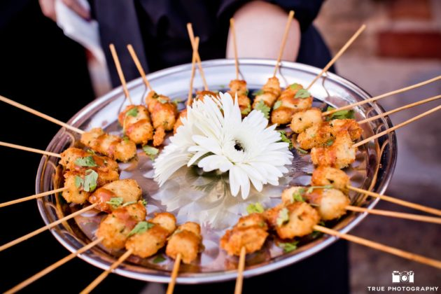tray passed san diego wedding catering appetizers