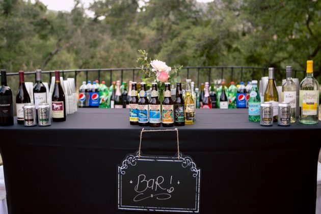 san diego event catering bar service with nice presentation